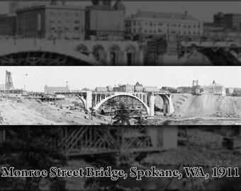 16x24 Poster; Monroe Street Bridge Construction, Spokane, Wash. 1911