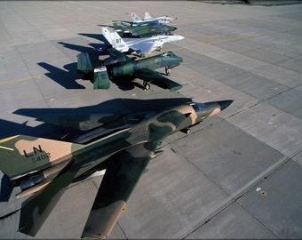 16x24 Poster; F-111F A-10A Thunderbolt Ii F-15C Eagle F-4E F-16A F-5E 1987