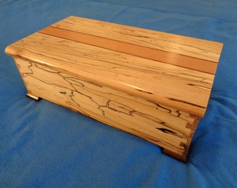 Handcrafted Spalted Maple /WoodenJewelry Box /storage/chest/Medium size/