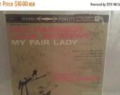 My Fair Lady Vinyl Album, Julie Andrews,Rex Harrison,Vintage, Columbia LP, 1959, Original London Cast, My Fair Lady