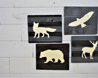 Woodland Animals, Woodland Nursery Decor, Animal Signs