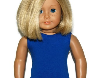 "Royal Blue Cotton Tank Top - Doll Clothes made to fit 18"" American Girl Dolls"