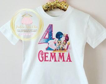 Shimmer and shine birthday shirt - shimmer and shine birthday tutu set - shimmer and shine birthday theme - shimmer and shine birthday party
