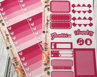 Berry Purple Weekly Sticker Kit