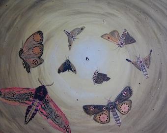 Fantasie schilderij 'Mothwork Spiral' / Fantasy painting 'Mothwork Spiral'