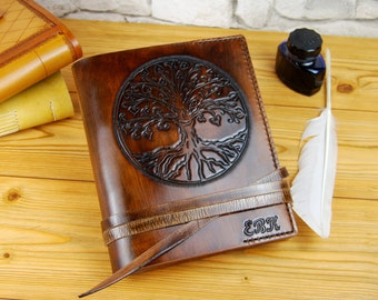 Tree Leather Journal Gift Leather Notebook Diary TiVergy Book Brown Leather Sketchbook Personalized Journal