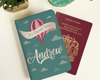 Personalised It's Time to Travel Passport Cover - FREE POSTAGE