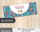 Dot Dot Smile Facebook Cover Photo, Fashion Consultant, Cute Garden Design, PRINTABLE, INSTANT DOWNLOAD