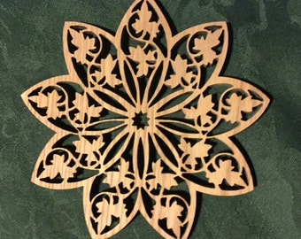 Nine Pointed Star Trivet or Decoration