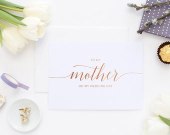 To my mother, mother of the bride, wedding day card, on my wedding day, to my mother card, first my mother, wedding card, to my mom, wedding
