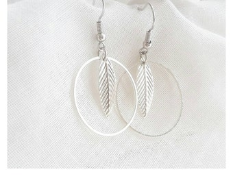 Earrings feather II