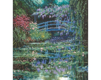 Candamar Monet's Japanese Bridge Needlepoint Kit