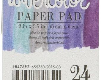 """Prima Marketing Watercolor Paper Pad 2""""X3.5"""" #847692"""