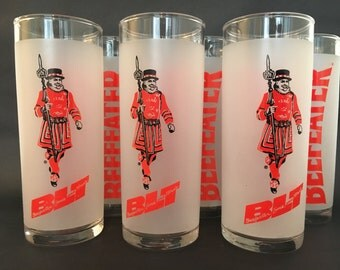Beefeater Frosted BLT Glasses Set of 6 by Libbey (Beefeater, Lime and Tonic)