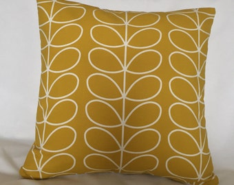 Orla Kiely Cushion Cover, Mustard Cushion Cover, Cushion Cover, Home Accessory, Orla Kiely