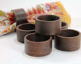 Wood Napkin Rings