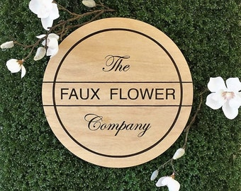 Flatlay Etched Sign & Logo