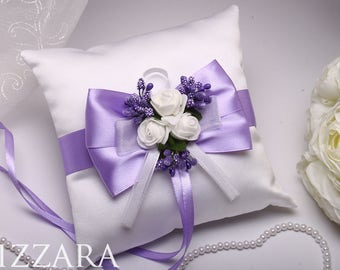 Wedding Pillow lilac Wedding Pillow Lavender Pillow lilac Wedding Lavender summer wedding flowers wedding Party Decor wedding Bearer set