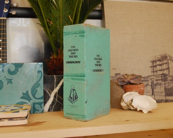 Painted Brick Book The Old Man And The Sea on Light Green Brick