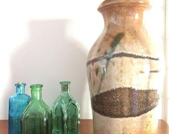 Scheurich/523-18/mid-century/modern/retro/green/vase