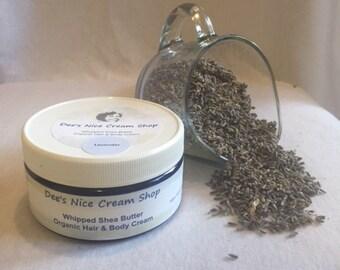 Lavender - Whipped Shea Butter: Organic Hair & Body Cream