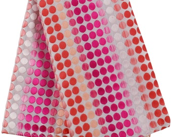 "Multi Color Polka Dots Men's 10"" x 10"" Pocket Square Handkerchief Hankie Fuchsia / Orange / Peach / Pink"