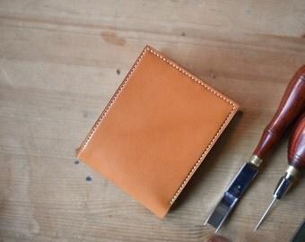 Tochigi Light Brown Bifold leather wallet, handmade wallet