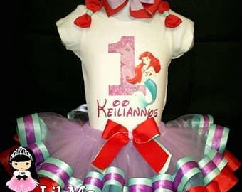 Little mermaid tutu, little mermaid tutu dress, little mermaid tutu outfit, Ariel tutu dress, little mermaid birthday tutu, Ariel tutu