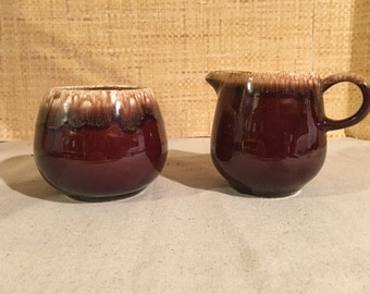 McCoy Pottery Creamer and Sugar Bowl