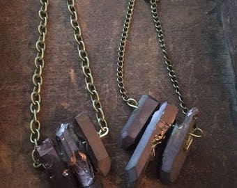Chocolate Brown Quartz Necklace 51