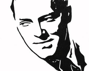 Bill Haley hand-drawn drawing / painting