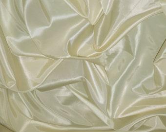 "IVORY Taffeta Fabric,  Faux Silk Taffeta Fabric | Fabric By The Yard 58""/60, Free Shipping in USA."