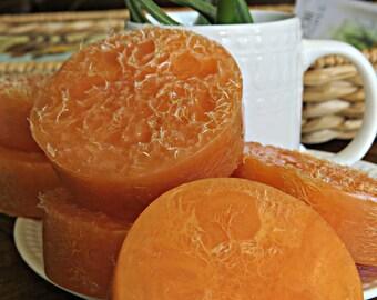 Loofah Soap - Homemade Soap Favor - Awaken - Boho Soap - Aromatherapy - Orange Mint Soap - Homemade Soap - Indie Beauty - Exfoliating Soap -