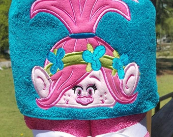 Trolls Hooded Towel with FREE Embroidered Name