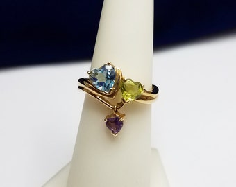 14kt Yellow Gold Multi Gemstone Ring - 3.CJ2422