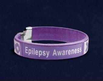 Epilepsy awareness bangle bracelet