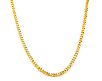 24 inch 18ct gold filled Curb Chain Necklace