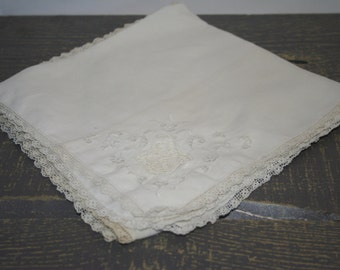 Set of Two napkins, shabby chic
