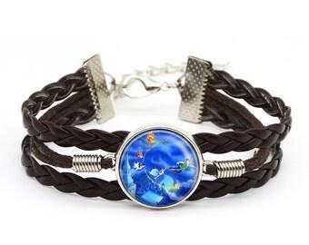 Custom Images Peter Pan Bracelet Peter Pan Jewelry Fashion Lover Birthday Gift Bracelet