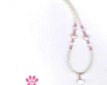 Birthstone Flower Girl  Jewelry  Silver Birthstone Flower Girl  Necklace  Flower Girl Crystal Heart Necklace