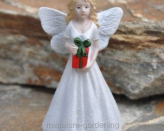 Christmas Fairy for Miniature Garden, Fairy Garden