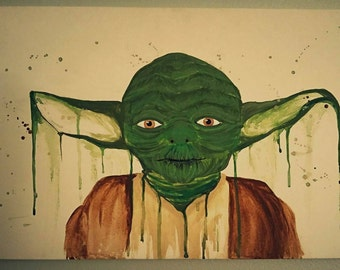 Custom Star Wars Painting of Yoda