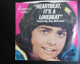Tony DeFranco 20th Century Records 45 rpm Record Heartbeat It's A Lovebeat