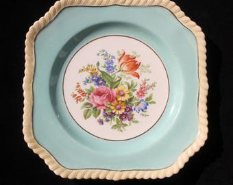 Gorgeous Johnson Brothers Bone China Old English Floral 7.625 inch Cake Plate