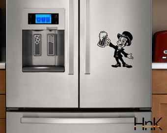 beer decal vinyl refrigerator sticker wall decal interior kitchen decor 016