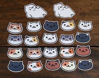 22 Neko Atsume die-cut stickers