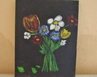 Flowers For You,oil painting,2012,19X24cm