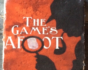 Sherlock The Game's Afoot Coaster or Decor Accent