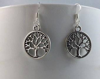Tree of Life Earrings - Hook or Clip On
