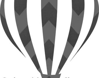 Hot Air Balloon SVG for personal cutting machines - instant download